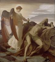 Lord Frederic Leighton - Elijah in the Wilderness