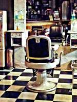Barber Chair and Bottles of Hair Tonic
