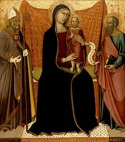 Luca di Tomme - Madonna and Child with Sts. Nichol