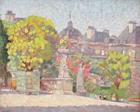 Luxembourg Garden by Ernest Moulines (1870-1942)