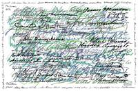 All The Presidents Signatures Teal Blue