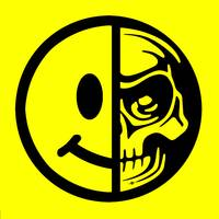 Smiley Face Skull Yellow