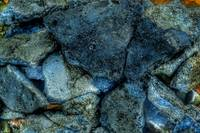 Rock Abstract in Shades of Blue and Grey, #1