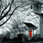 """Church with Red Door and Cross"" by sherri"