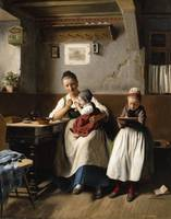 Meyerheim, Franz - The Caring Mother. 1867.  1838