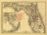 Map of Florida (1900)