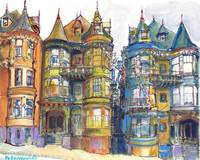 San Francisco California Victorian Mansions