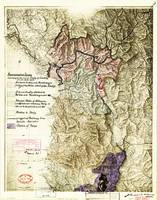World War I Map of Albania (April 26, 1915) accord