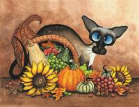 Cornucopia Cat Thanksgiving Siamese