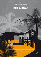 No998 My Key Largo minimal movie poster