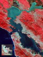 Satellite image of San Francisco Bay Area - infra