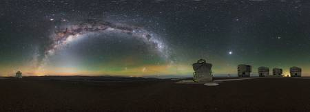Milky Way glow at Paranal, Chile ESO