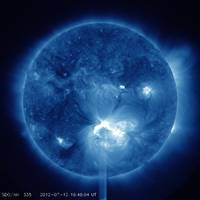 X1.4 Class Flare Released from Big Sunspot 1520