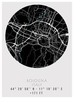 Bologna,  Italy Minimalist Street Map  Poster