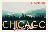 Chicago, USA Travel Poster