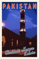 Badshahi Mosque, Lahore, Pakistan Travel Poster