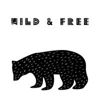 Wild and Free Scandinavian Minimalist Poster v3