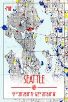 MAP OF SEATTLE - No 1