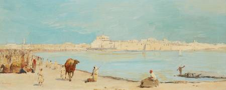 Richard Fuchs, View of a North African Harbour Tow