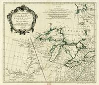 Map of the Great Lakes Region, North America (1784