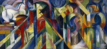 Stables (Stallungen) by Franz Marc