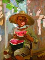 The boy and watermelon - Joaquín Sorolla y Bastida