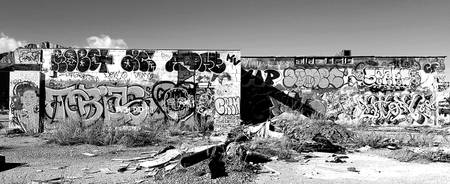 Black and White Back Wall Graffiti