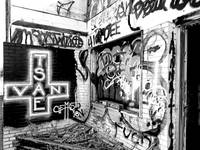 Black and White Corner Graffiti