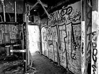 Black and White Exit Wall Graffiti