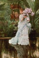 The Bunch of Lilacs (c. 1875), by James Tissot
