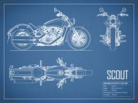 The Scout Motorcycle Blueprint