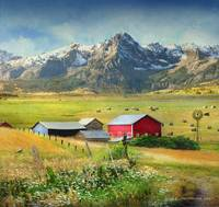 haying season-idyllic mountain farm