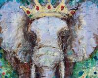 elephant painting | african wildlife art | king