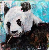 panda art | wildlife artwork | panda bear painting