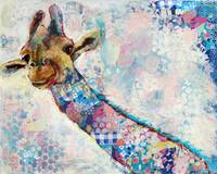 giraffe art | african wildlife artwork | animal