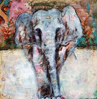 elephant painting | african wildlife art | animal