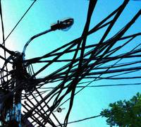 Vietnam Telephone Wires Painting 1