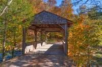 Old Covered Bridge in Fall