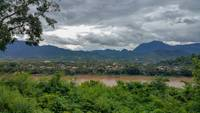 Laos Luang Prabang panorama with view of Mekong