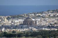 Malta panoramic view of Mosta dome