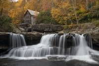 Babcock Mill Autumn Horizontal in West Virginia by