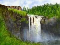 Snoqualmie Falls horizontal design