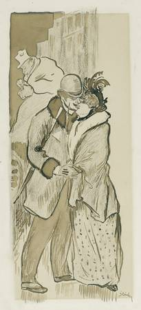 Théophile Alexandre Steinlen 1859 - 1923 THE KISS