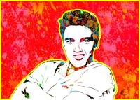 Elvis Presley | Splatter Series | Pop Art