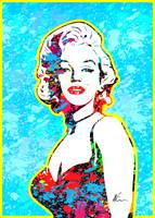 Marilyn Monroe | Splatter Series | Pop Art |  Blue