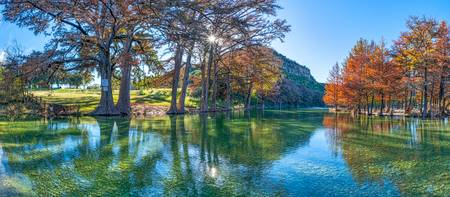 Texas Hill Country Landscape Pano