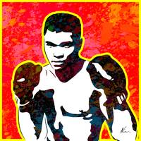 Muhammad Ali | Splatter Series | Pop Art