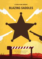 No1014 My Blazing Saddles minimal movie poster