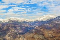 Alpes Mountains Aerial View Piamonte District