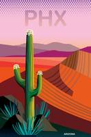 Phoenix Arizona Travel Poster